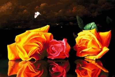Набор для вышивания Александра Токарева 40-4510-НН Натюрморт с розами - набор для вышивания