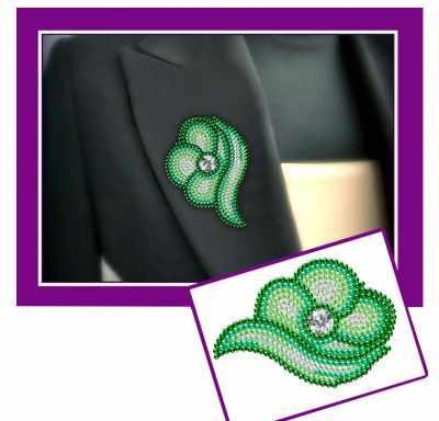 Набор для вышивания Наследие У-09 Цветок зеленый