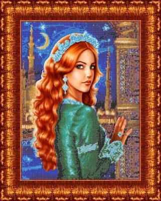 Основа для вышивания с нанесённым рисунком Каролинка КБЛ 3006 Султанша - схема для вышивания (Каролинка)