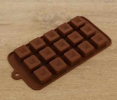 """2389442 Форма для льда и шоколада """"Шоколадные кубики"""""""