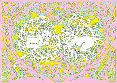 Вытынанки Вытынанка 130426 Базовый набор Спящие ангелочки (многослойные)
