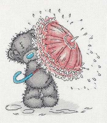 Набор для вышивания Кларт MTY-8-269 Tatty Teddy с зонтиком набор белого картона action tatty teddy a4 8 листов bnf awp 8 8 в ассортименте