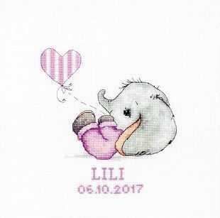 Набор для вышивания Luca-S B1133 Baby Girl