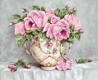 Набор для вышивания Luca-S B2319 Pink Roses