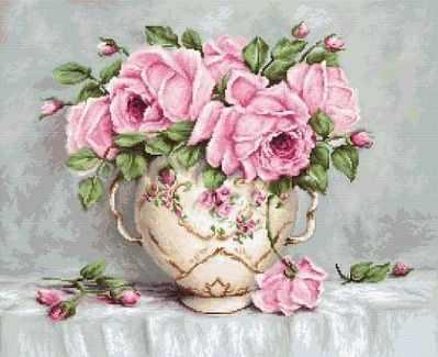 Набор для вышивания Luca-S G567 Pink Roses
