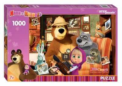 79605 Мозаика puzzle 1000 Маша и Медведь (Анимаккорд)