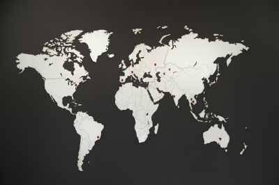 Карта Wall Decoration White 130 x 78