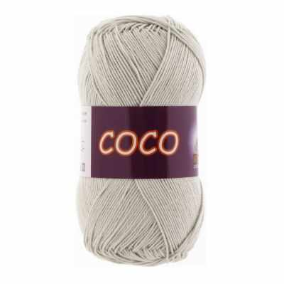 Пряжа VITA Пряжа VITA Coco Цвет.3887 Светло-серый