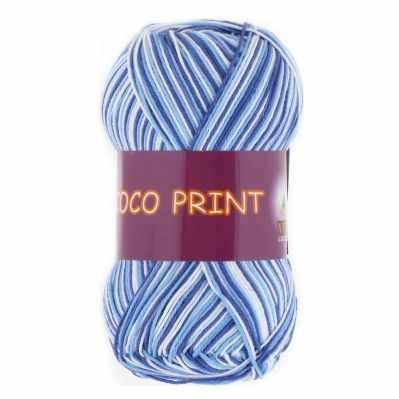 Пряжа VITA Пряжа VITA Coco print Цвет.4659 голуб.Меланж