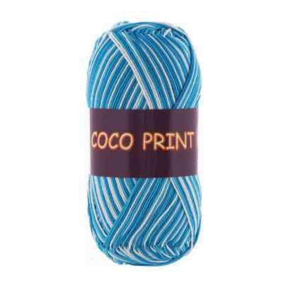 Пряжа VITA Пряжа VITA Coco print Цвет.4668 бирюзов.Меланж