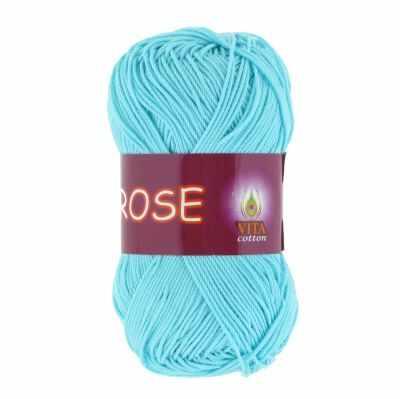 Пряжа VITA Пряжа VITA Rose Цвет.3909 Светлая голубая бирюза