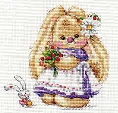 0-179 Зайка Ми. Земляника - Наборы для вышивания «Алиса»