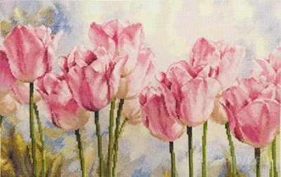 2-37 Розовые тюльпаны - Наборы для вышивания «Алиса»
