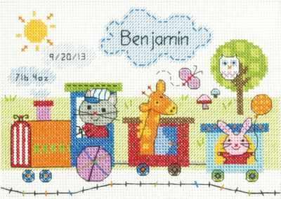 Набор для вышивания Dimensions 73925-DMS Поезд: запись о рождении ребенка