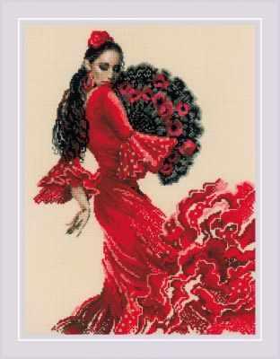 1740  Танцовщица  - Наборы для вышивания «Риолис»