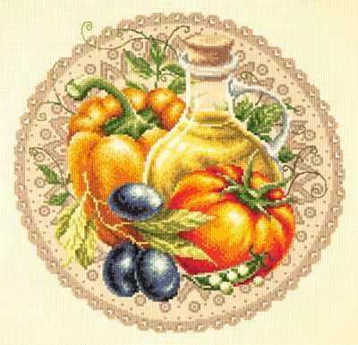54-01 Средиземноморский салат - Наборы для вышивания «Чудесная игла»