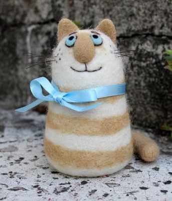 1246721 Набор для создания игрушки Полосатый кот техника валяние