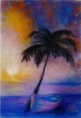 1246742 Набор для создания картины Пальма