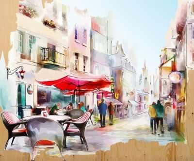 DER003 Уютная улочка - Раскраски по номерам «Color Kit»