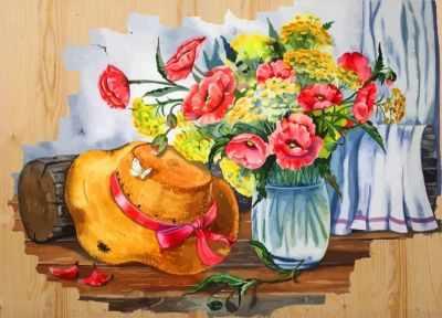 Раскраски по номерам Color Kit DER007 Соломенная шляпка