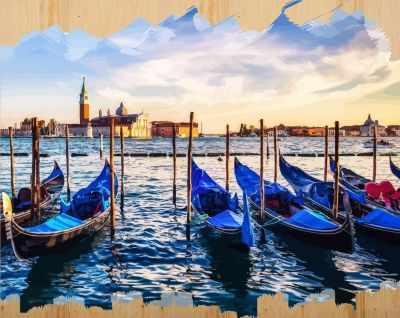 DER009 Набережная Венеции - Раскраски по номерам «Color Kit»