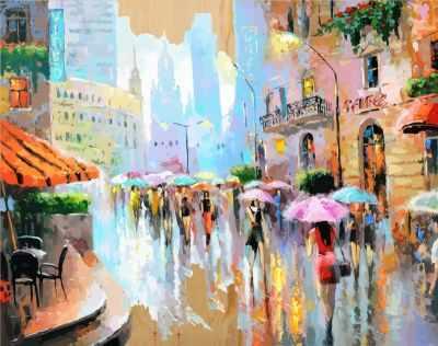 DER015 Город в акварели - Раскраски по номерам «Color Kit»