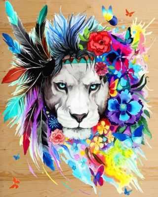 DER021 Царь зверей - Раскраски по номерам «Color Kit»
