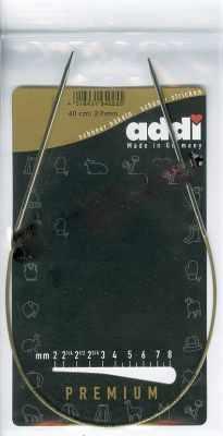 Инструмент для вязания ADDI 105-7/2-40 Спицы, круговые, супергладкие, никель, №2, 40 см.