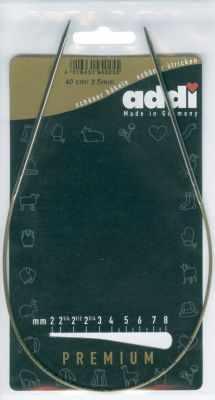 Инструмент для вязания ADDI 105-7/2.5-40 Спицы, круговые, супергладкие, никель, N2,5, 40 см.