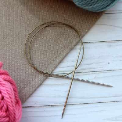Инструмент для вязания ADDI 105-7/3-80 Спицы, круговые, супергладкие, никель, №3, 80 см.