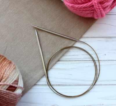 Инструмент для вязания ADDI 105-7/5-120 Спицы, круговые, супергладкие, никель, №5, 120 см.
