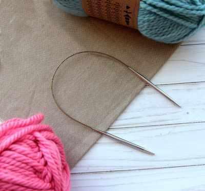 Инструмент для вязания ADDI 105-7/5-40 Спицы, круговые, супергладкие, никель, №5, 40 см.