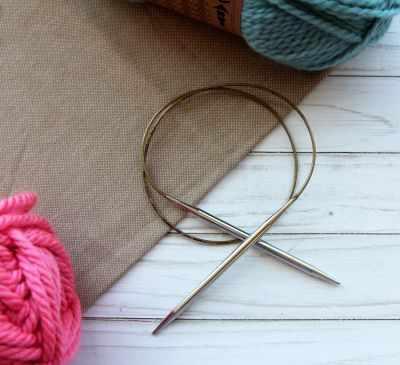 Инструмент для вязания ADDI 105-7/6-80 Спицы, круговые, супергладкие, никель, №6, 80 см.