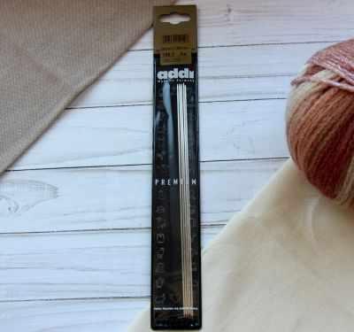 Инструмент для вязания ADDI 150-7/1.5-20 Спицы, чулочные из никелированной стали, №1,5, 20 см. 5 шт promoitalia нити с насечками из поликапролактона assufil beauty 5 шт 5 шт 23g 150 мм