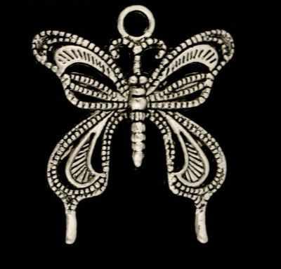 1638763 Декор металл Бабочка-махаон