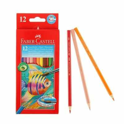 Карандаши FABER-CASTELL 1986260 Карандаши акварельные 12 цветов Faber-Castell 1144 шестигранный корпус с кисточкой