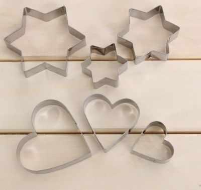 """2599228 Набор форм для вырезания печенья """"Сердце,звездочка"""""""