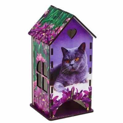 3314398 Чайный домик «Кот», ирисы - Декор для кухни