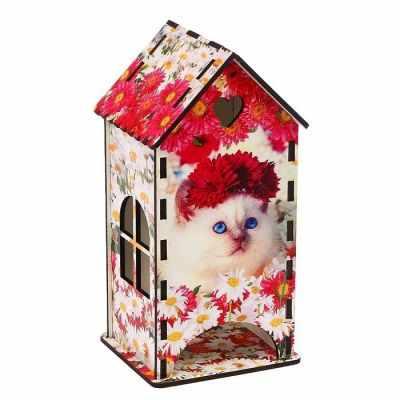 3314410 Чайный домик «Кошка», цветы - Декор для кухни