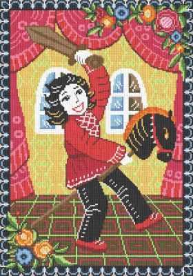 0268 Мальчик с лошадкой (Nitex) - Наборы для вышивания «NITEX»