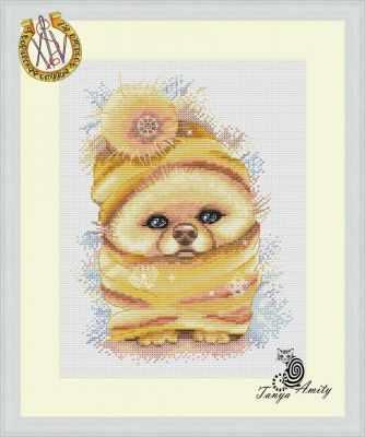 Фото - Набор для вышивания Татьяна Amity Снежный шпиц - набор набор для вышивания татьяна amity снежный шпиц набор