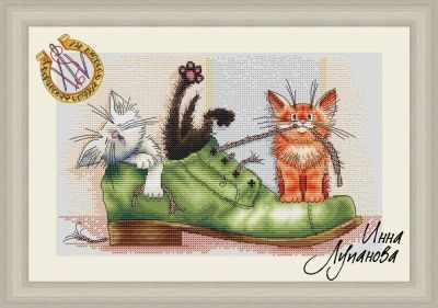 Набор для вышивания Инна Лупанова Были у хозяина любимые ботинки - набор