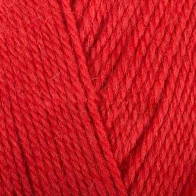 Пряжа Троицкая Чистая шерсть Цвет.1440 Алый