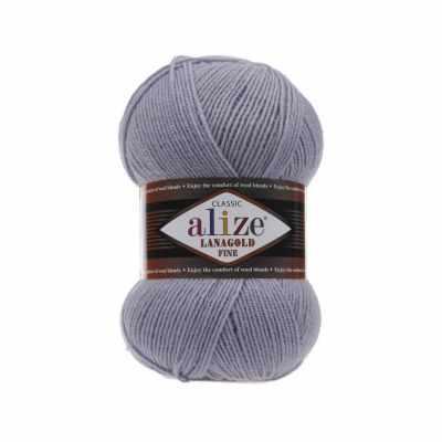 Пряжа Alize Пряжа Alize Lanagold Fine Цвет.200 Св.серый