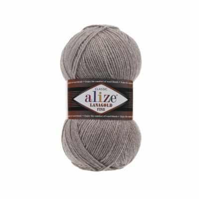 Пряжа Alize Пряжа Alize Lanagold Fine Цвет.207 Св. коричневый