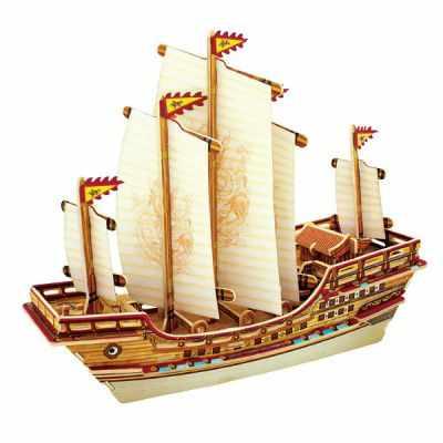 BA401S Деревянные 3D пазлы Китайский корабль, 66 деталей
