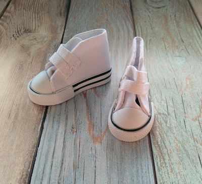 Кроссовки с липучкой белые, 7,5 см