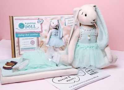 Набор для изготовления игрушки Pugovka Doll Набор зайка Люси, 30 см