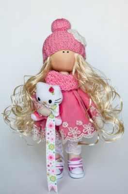 Набор для изготовления игрушки Pugovka Doll Набор Злата, 27 см