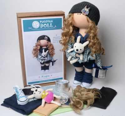 Набор для изготовления игрушки Pugovka Doll Набор Кира, 35 см